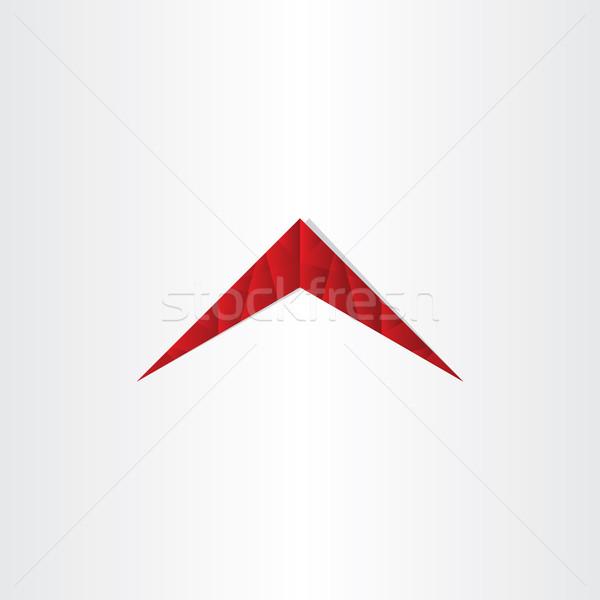 Casa polígono rojo techo diseno negocios Foto stock © blaskorizov