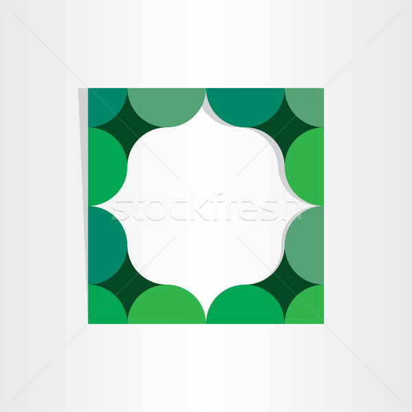 green textbox geometry frame Stock photo © blaskorizov