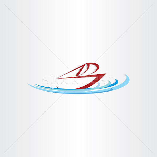 óceán csónak hajó vektor terv dizájn elem Stock fotó © blaskorizov