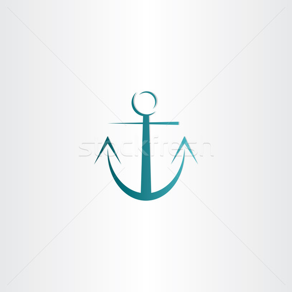 Gestileerde anker icon ontwerp water Stockfoto © blaskorizov