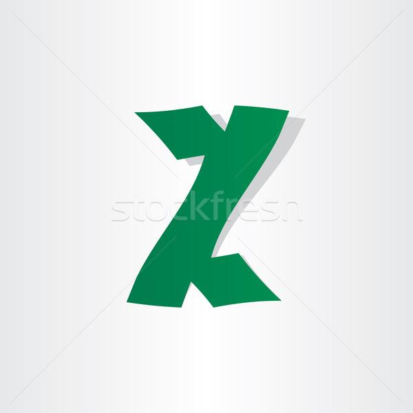 письмо z аннотация икона дизайна зеленый Сток-фото © blaskorizov
