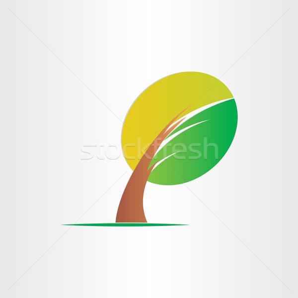 bended tree eco icon design Stock photo © blaskorizov