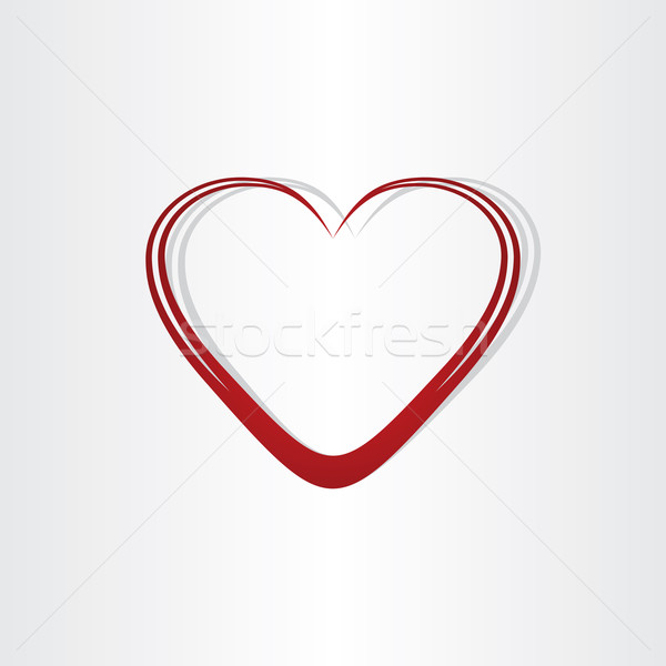 heart shape text box frame Stock photo © blaskorizov