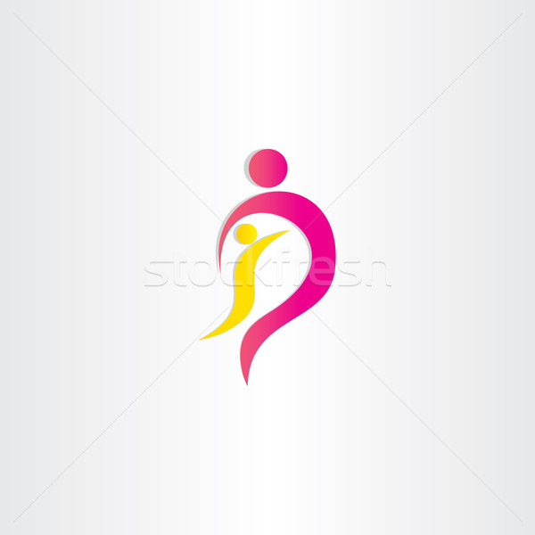 Mère enfant parent protection symbole design Photo stock © blaskorizov
