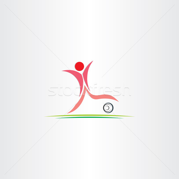 soccer player vector football icon Stock photo © blaskorizov