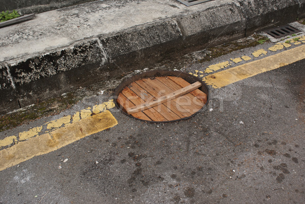 Makeshift Manhole Cover Stock photo © blinztree