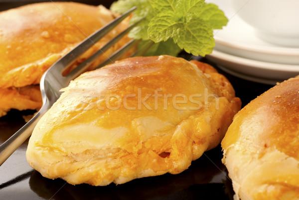 Lezzetli köri Asya et turta tavuk Stok fotoğraf © blinztree