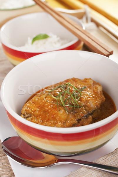 Taylandlı baharatlı balık kuyruk kişniş Stok fotoğraf © blinztree