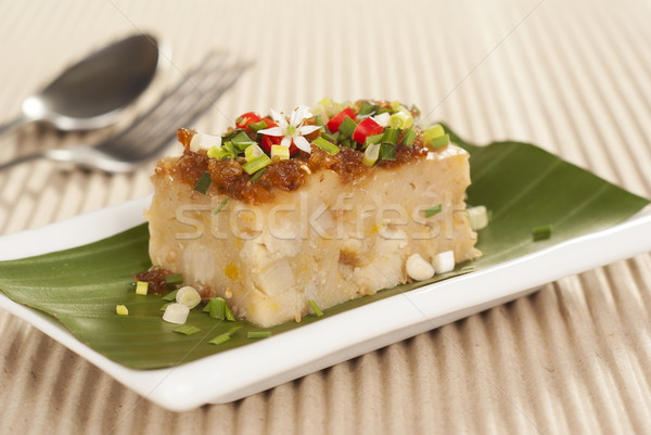 Savory Yam and Pumpkin Vegetable Cake Stock photo © blinztree