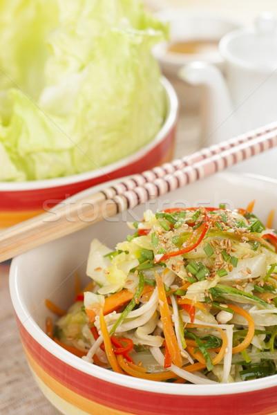 Karışık sebze asya mutfağı gıda Asya Stok fotoğraf © blinztree