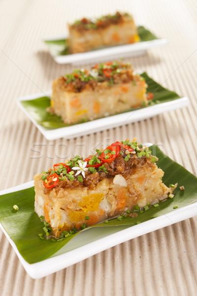 Savory Yam and Pumpkin Vegetarian Cake  Stock photo © blinztree