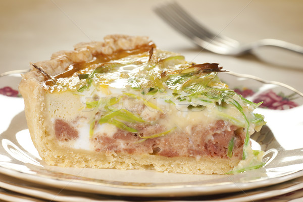 Sığır eti pırasa yumurta sebze Stok fotoğraf © blinztree