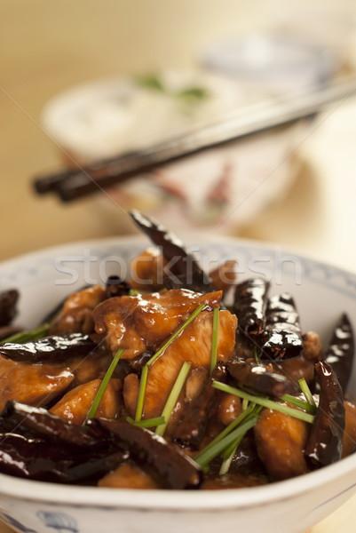 Szechuan Chili Chicken Stock photo © blinztree