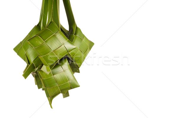 Doğal gıda genç hindistan cevizi yaprakları pişirme Stok fotoğraf © blinztree
