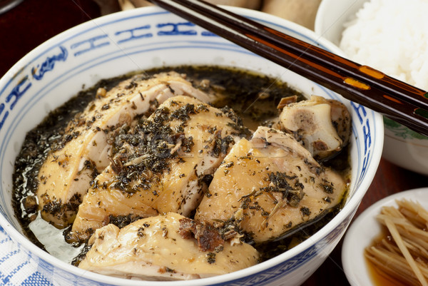 Herbal Drunken Chicken also known as Kacang Ma Stock photo © blinztree