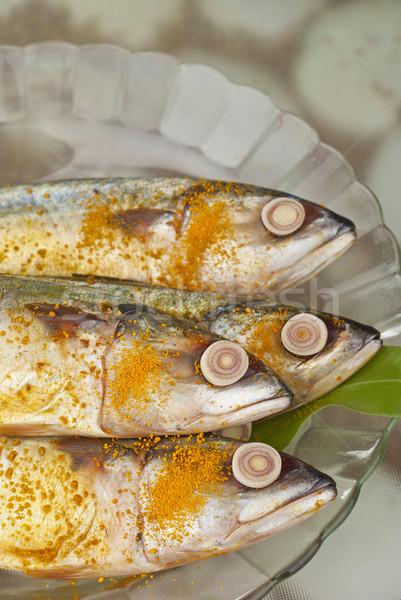 Indiai étel tengeri hal tengeri kicsi nyers Stock fotó © blinztree