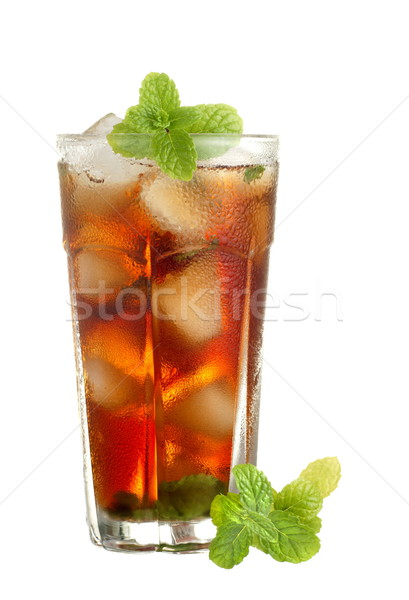 Chilled Mint English Tea with Real Ice Cubes Stock photo © blinztree
