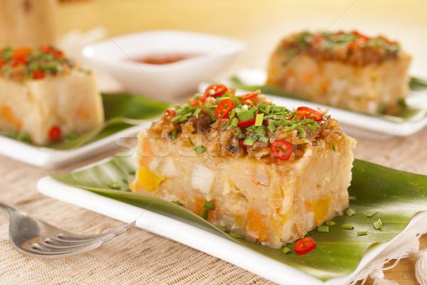 Savory Yam and Sweet Potato Cake Stock photo © blinztree