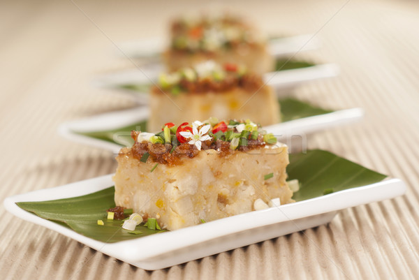 Savory Yam and Pumpkin Cake Stock photo © blinztree