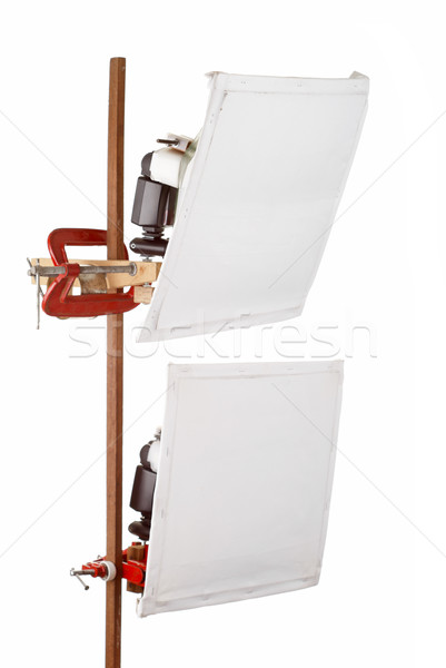 DIY Softboxes on Wooden Stand Stock photo © blinztree