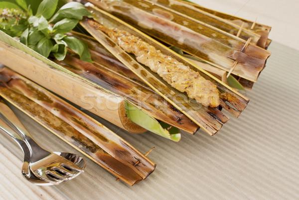 чабер рыбы популярный листьев азиатских морепродуктов Сток-фото © blinztree