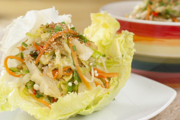 Fried Vegetable Lettuce Cup Wraps Stock photo © blinztree