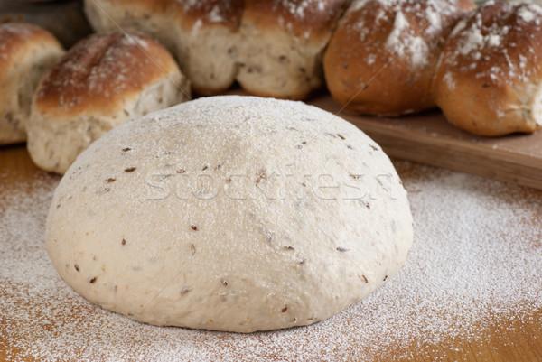 Top kimyon ekmek buğday un Stok fotoğraf © blinztree