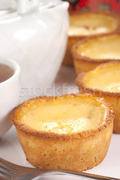 Yumurta sarı yemek doğu şekerleme mutfak Stok fotoğraf © blinztree