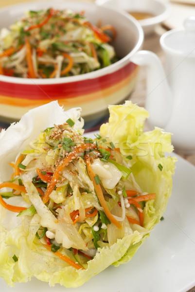 Stir Fried Mixed Vegetable Wraps Stock photo © blinztree