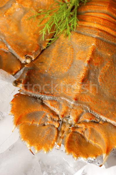 Pişmiş terlik ıstakoz yatak buz deniz ürünleri Stok fotoğraf © blinztree