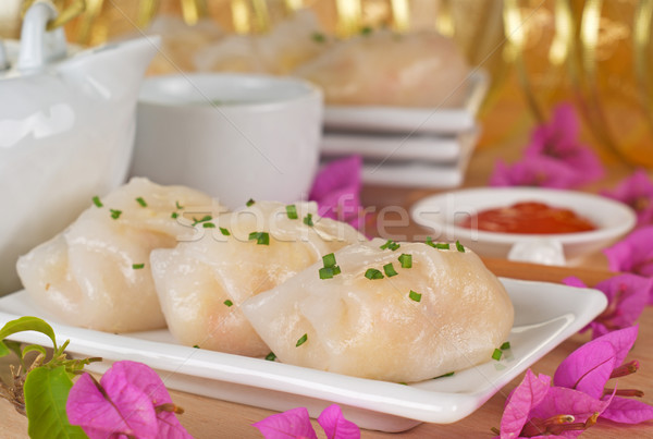 Sebze Çin böreği kahvaltı Çin Stok fotoğraf © blinztree