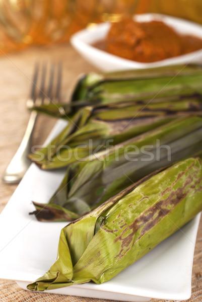 Lemper - Grilled Savory Rice Rolls Stock photo © blinztree