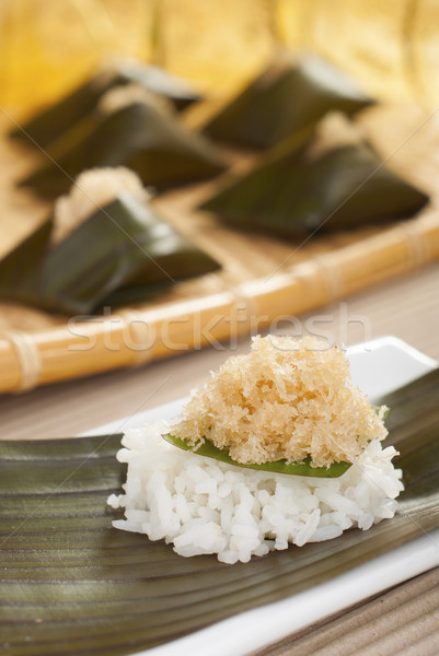 Glutinous Rice Packets with Sweet Coconut Filling Stock photo © blinztree