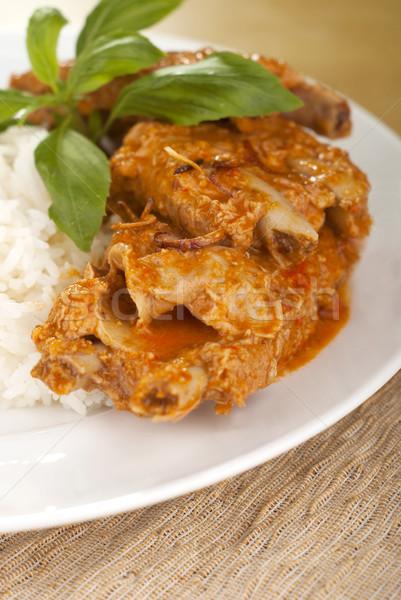 Domuz eti kaburga köri Taylandlı mutfak Stok fotoğraf © blinztree