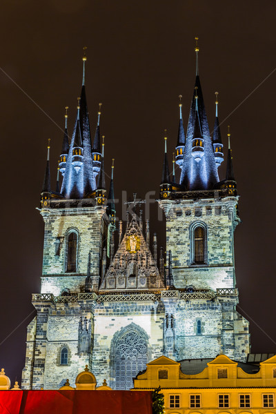 Church of Our Lady before Tyn in evening in Prague, Stock photo © bloodua