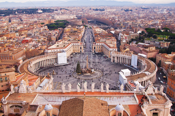 Rome, Italy. Peter's Square in Vatican Stock photo © bloodua