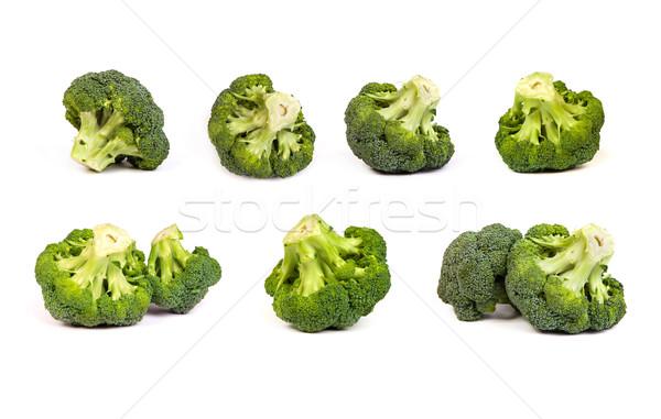 set of broccolis floret isolated on white Stock photo © bloodua