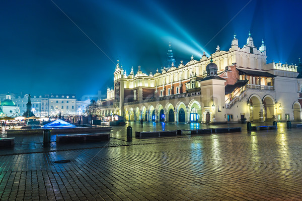 Polonia cracovia mercado cuadrados noche edad Foto stock © bloodua