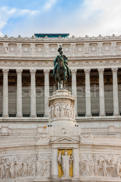 Equestrian monument to Victor Emmanuel II near Vittoriano in Rom Stock photo © bloodua