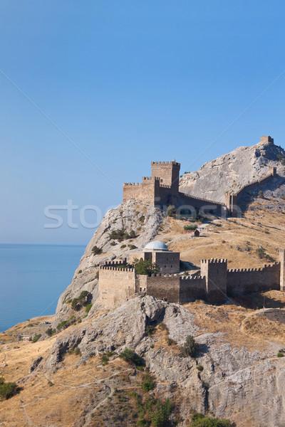 Ruins of The Genoa Fortress in Sudak, Crimea. Ukraine Stock photo © bloodua