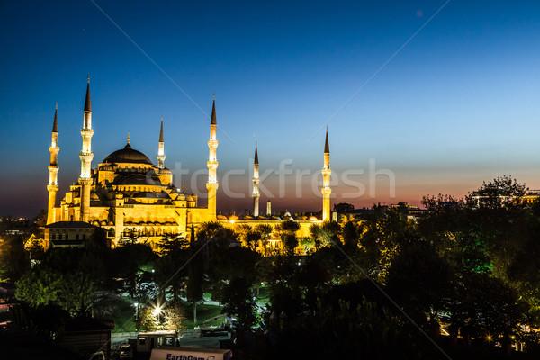 Blu moschea Istanbul Turchia view presto Foto d'archivio © bloodua