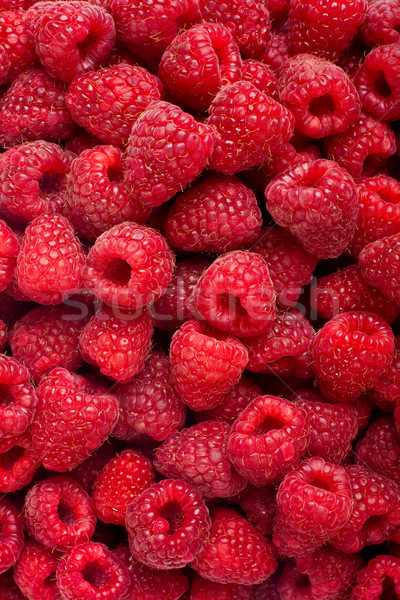 Ripe rasberry fruit horizontal close up background. Stock photo © bloodua