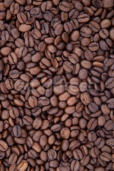 Kávébab aromás pörkölt barna csokoládé háttér Stock fotó © bloodua
