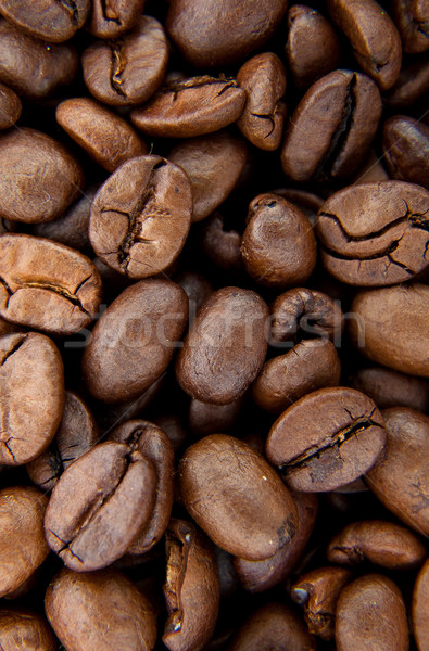 Grão de café aromático marrom chocolate preto Foto stock © bloodua