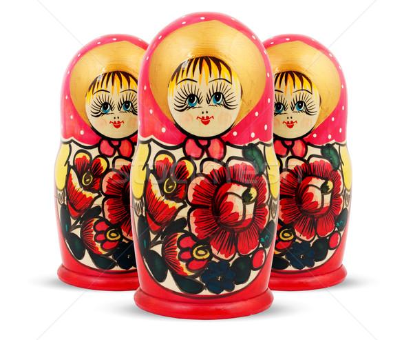 Russo bambole isolato bianco famiglia faccia Foto d'archivio © bloodua