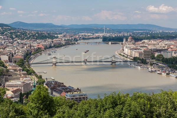 Vue bâtiment hongrois parlement panoramique danube Photo stock © bloodua