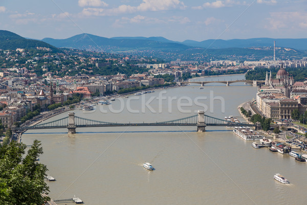 View of a building of the Hungarian parliament Stock photo © bloodua
