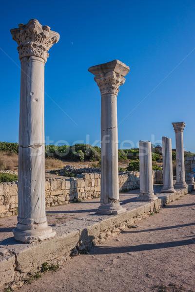 Ruins of ancient greek colony Khersones Stock photo © bloodua