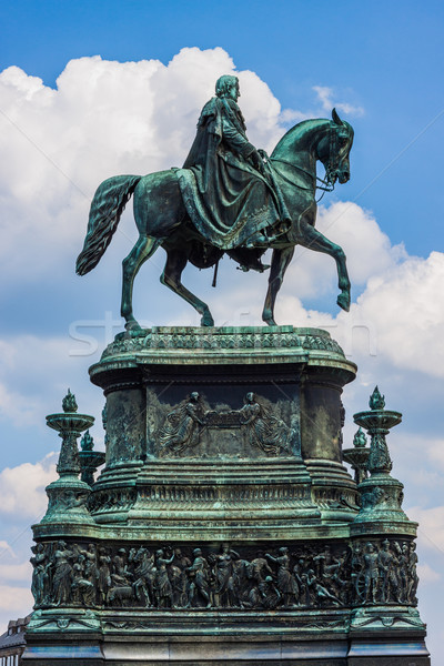 Equestrian Statue of King John of Saxony  in Dresden, Germany Stock photo © bloodua