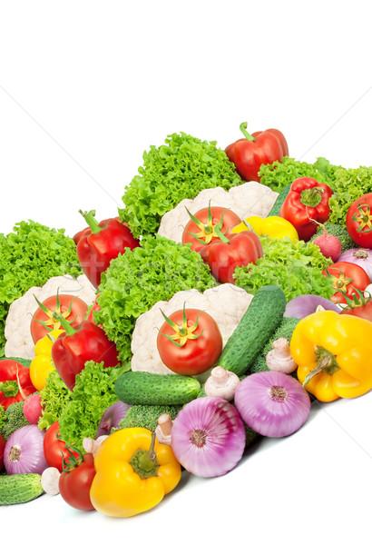 Verse groenten geïsoleerd witte blad vruchten achtergrond Stockfoto © bloodua